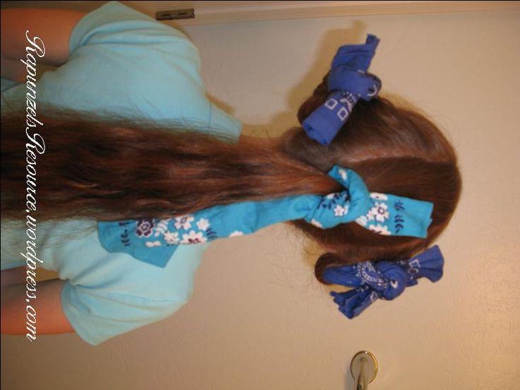 bandana curls for long hair