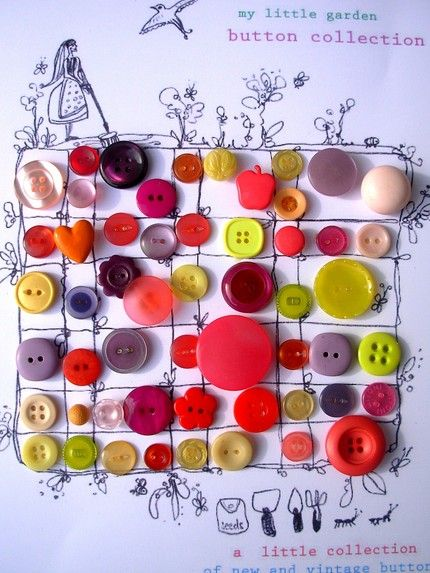 oh so cute : Drawings Sewing Create Fun, Buttons Buttons, Buttons Ideas, Buttons N Bows, Amazing Buttons, Buttons Collection, Collection Display Art, Buttons Obsession, Buttons Cards