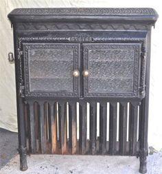 Antique Exeter 1885 Cast Iron Steam Radiator Bread Warmer Pie Safe Glass Doors | eBay