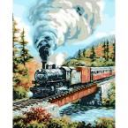 Plaid Paint by Number 16 in. x 20 in. 19-Color Kit Over The River Paint by Number-21762 at The Home Depot