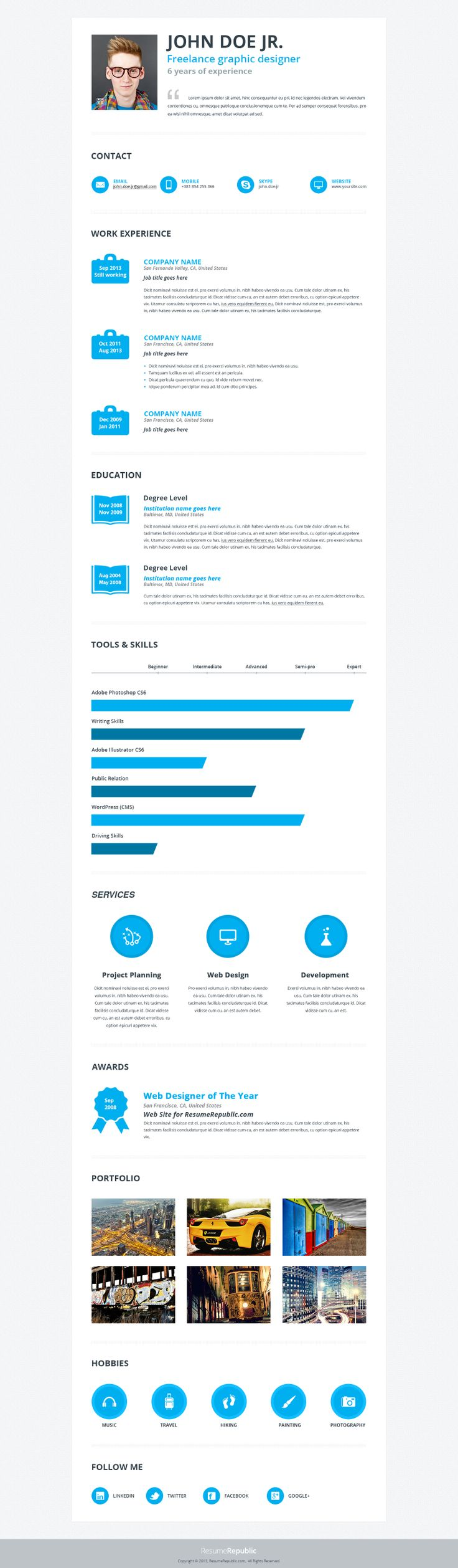 images about resume templates resumerepublic waterli is simple but effective premium resume template designed for those who want a simple
