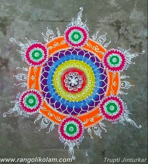 Today thought of kolam Every day is a new day, and you'll never be able to find happiness if you don't move on. Freehand design with colourfull creation done by Trupti Jinturkar