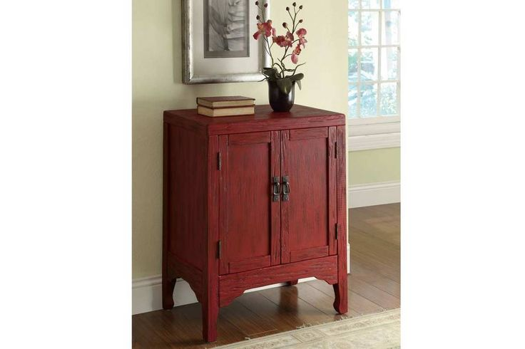 Rustic Red Accent Cabinet 950199