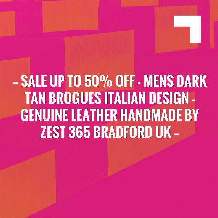 Kickstart your day with a good read!⚡️SALE Up to 50% Off - Mens Dark Tan Brogues Italian Design - Genuine Leather Handmade By Zest 365 Bradford UK  https://timetogetone.myshopify.com/