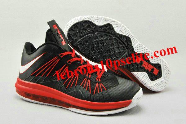 Nike Air Max Lebron X Low Black/Red/White