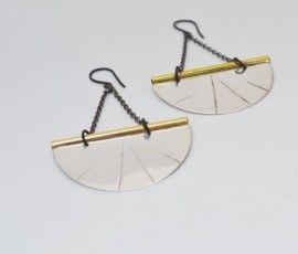 Artemis Earrings - Sterling Silver 925 - Fishbone Design Jwls
