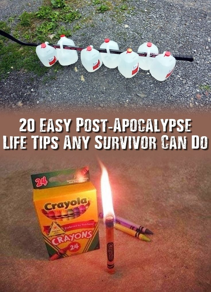 20 Easy Post-Apocalypse Life Tips Any Survivor Can Do - Check these very interesting 20 post-apocalypse life tips out today before the internet is gone forever! Maybe just one of these could help you survive.