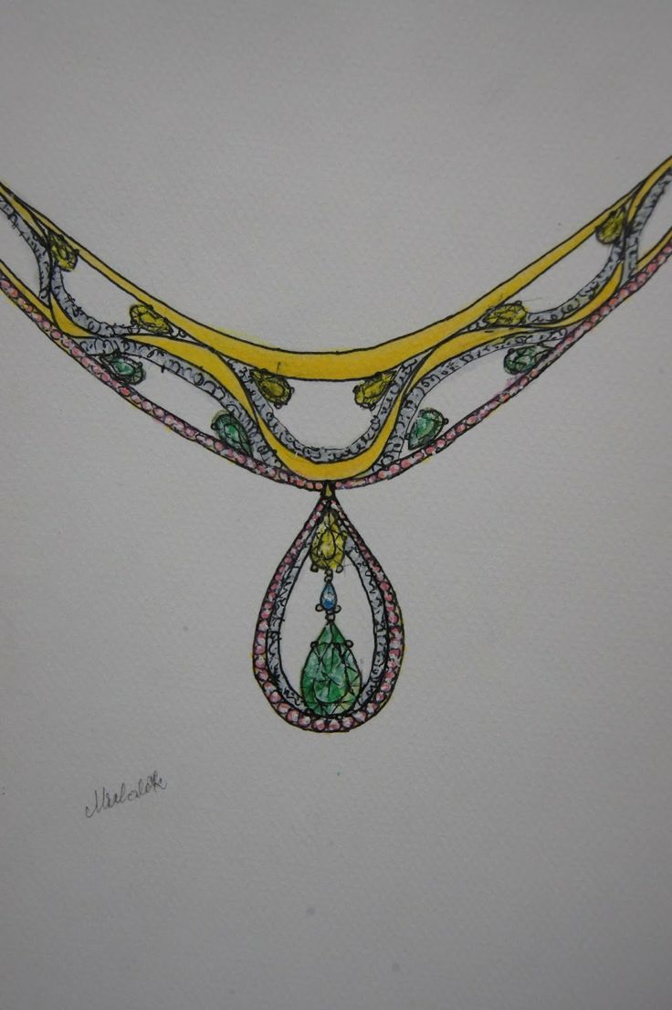 It is magic day: Necklace with gemstones