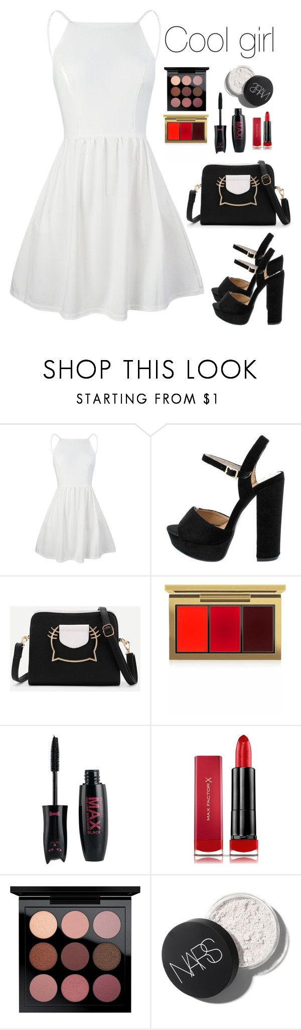 """Untitled #700"" by emily147147 ❤ liked on Polyvore featuring MAC Cosmetics and Max Factor #Accessoriesteenscasual"
