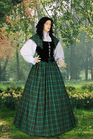 Traditional Scottish Tartan Dress    going to put this here, because its close to the same style  :-)