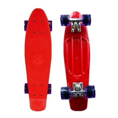 Fish Skateboard - retro moulded high strength injection moulded deck.