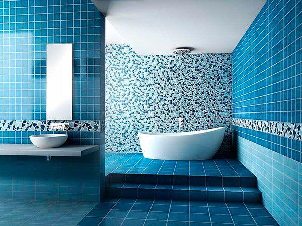 Si tienes que reformar el baño aquí tienes ideas de decoración moderna con azulejos de diseño. ¡Muchas fotos para que te inspires!