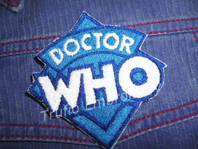 Dr Who logo iron-on patch/badge by Trufio on Etsy