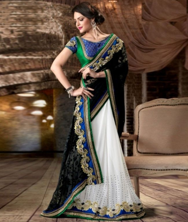 Shop online from the incredible collection of #Shoppers99. Get beautiful collection of #Designer_Sarees.