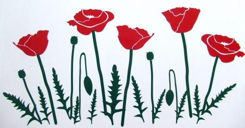 Poppy Leaf car stickers | Hippy Motors car stickers vinyl decals transfers