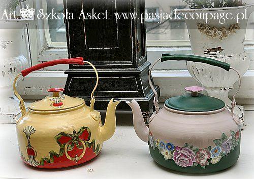 Art School Asket - Decoupage Print-Room - kettles