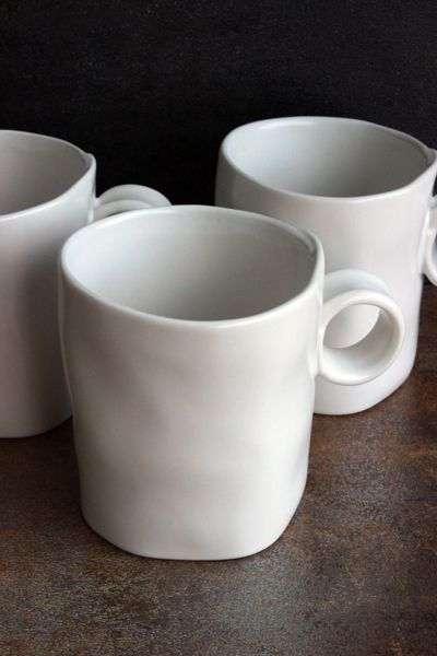 A Little Bit Wiggly White Clay Mug Contrast Of Irregular Surface With  Simple Handle And Minimalist Glaze Creates A Wonderful Piece