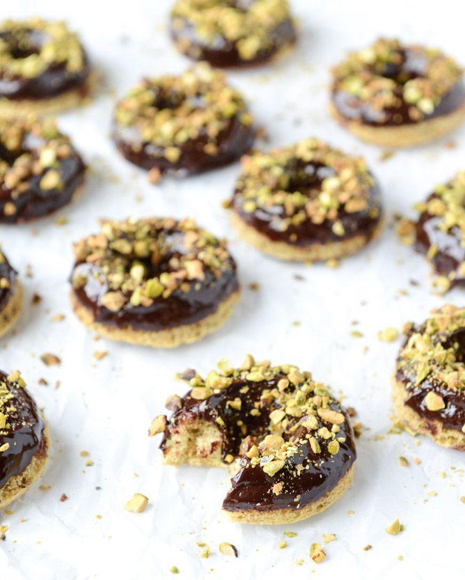 Chocolate Fudge Pistachio Cake Donuts | Pistachios, Posts ...