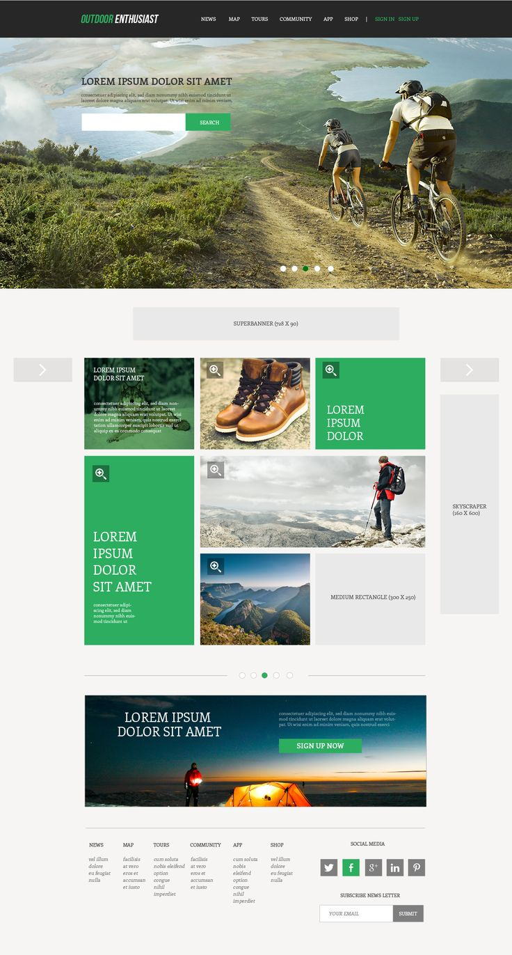 Inspiring website for outdoor enthusiast needed Website design #122 by fattah setiawan