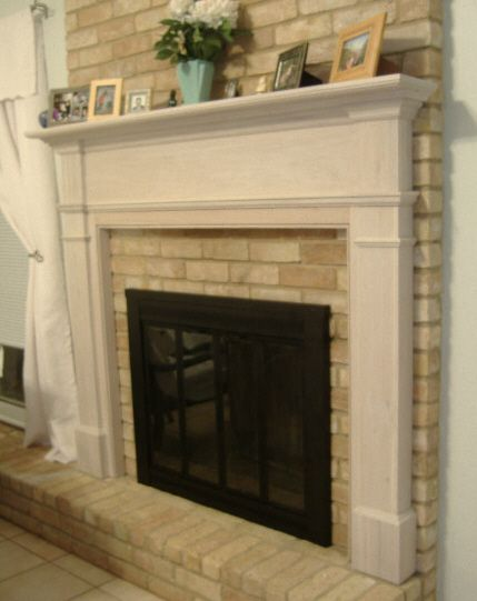 17 best images about mom 39 s fireplace makeover inspiration on pinterest mantles pearls and mantels - Brick fireplace surrounds ideas ...