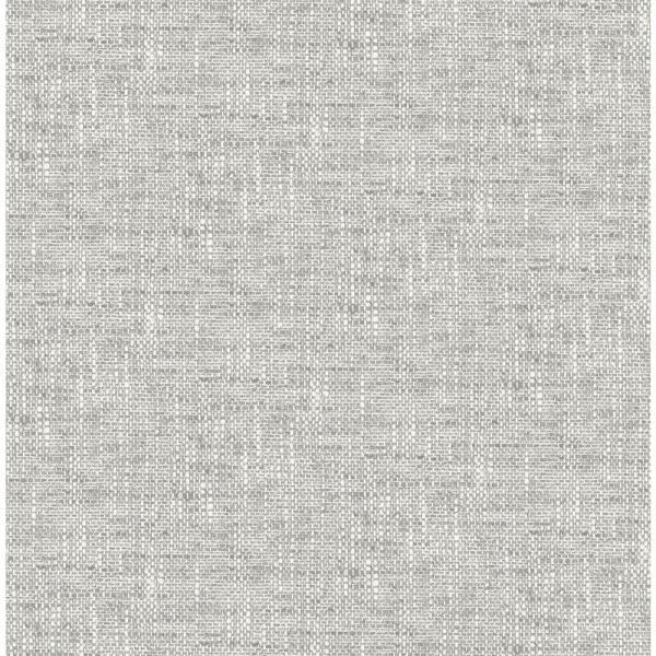 Nuwallpaper Grey Poplin Textured Vinyl Strippable Roll Covers 30 75 Sq Ft Nu2873 The Home Depot Nuwallpaper Peel And Stick Wallpaper Wallpaper Samples