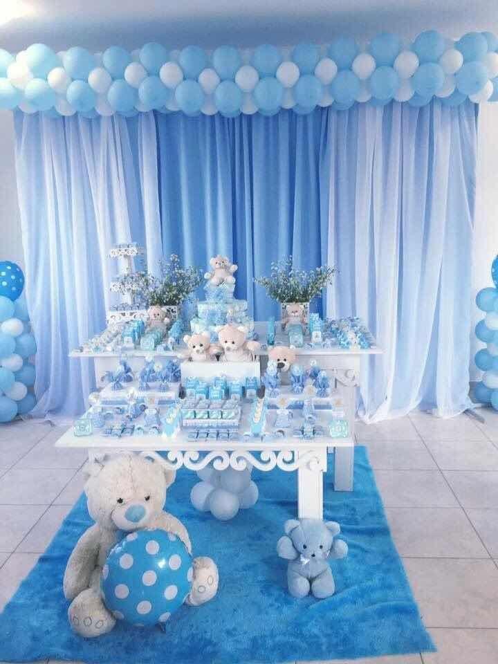 Decoraci n de mesa para baby shower m s de 25 for Decoracion pared bebe nino