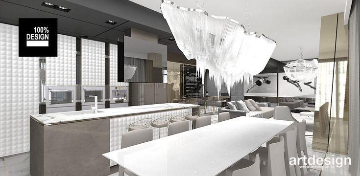 ON TOP OF THE WORLD   Otwarta kuchnia w apartamencie