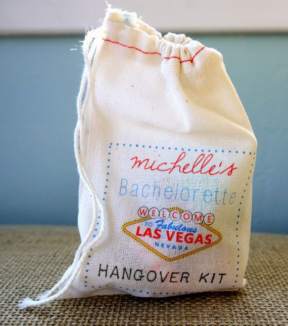 10 Personalized Hangover Survival Kit Muslin Bags by FINCHandFOX, $19.00