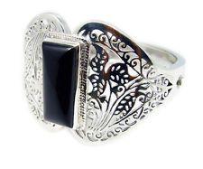 Black Onyx 925 Sterling Silver Bracelet cute Black wholesales AU gift