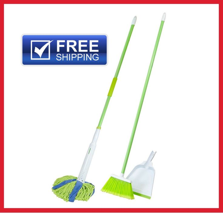 It sweeps fine and medium dust, dirt and debris. Broom fibers with built-in antimicrobial protection are treated to fight against odor-causing bacteria, mold and mildew. The durable dustpan with molded rubber lip holds lots of debris. | eBay!