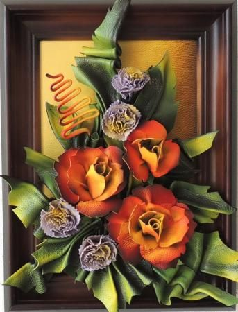 MaK Marketplace Presents  Handcrafted Leather Wall Hanging Art - Handmade Leather Colorful Flowers  Every Artwork takes a lot of time and work, beautiful design with highest quality.  Elegant and fine construction enrich your home or office.   www.makmarketplace.com  https://www.facebook.com/pages/MAK-Marketplace/331889076912354