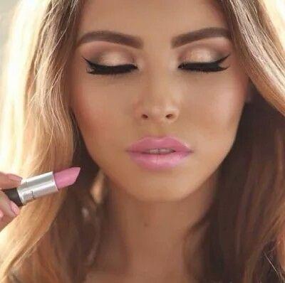 Beutiful Girl, Face, Lips, Gesicht, Eyeliner, Augenbrauen, Blonde, Blond, Plavusa, Lippenstift, Make Up, Lipstick, Karmin, Roza, Roze, Rosa, Pink, Eyeliner, Lidschatten