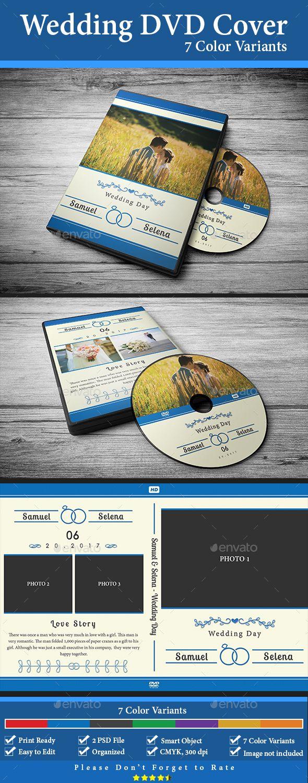 #Wedding #DVD #Cover #Template #7 #Color #Variants - #CD & DVD #Artwork #Print #Design. Download here: https://graphicriver.net/item/wedding-dvd-cover-7-color-variants/19820506?ref=yinkira
