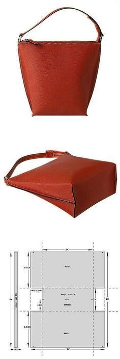 Bolso de piel, patrón e instrucciones   -   Leather Bag. pattern and instructions