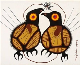 Norval Morrisseau, Two birds and Butterfly