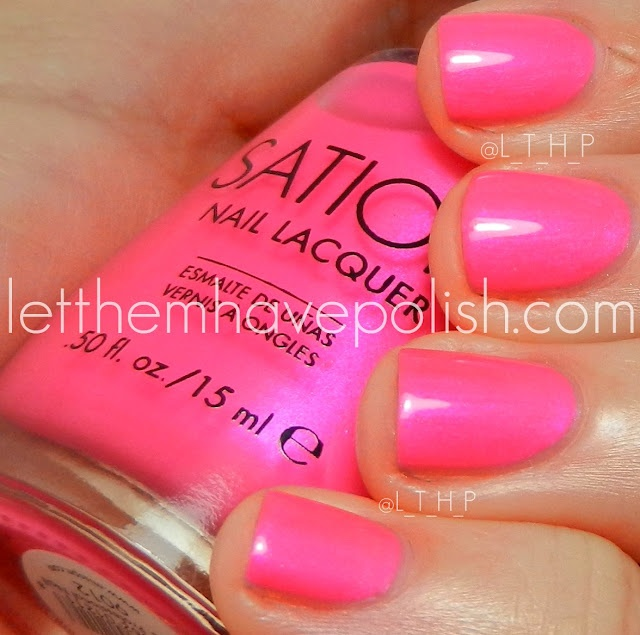 Sation: Shock me twice pink | Nails | Pinterest