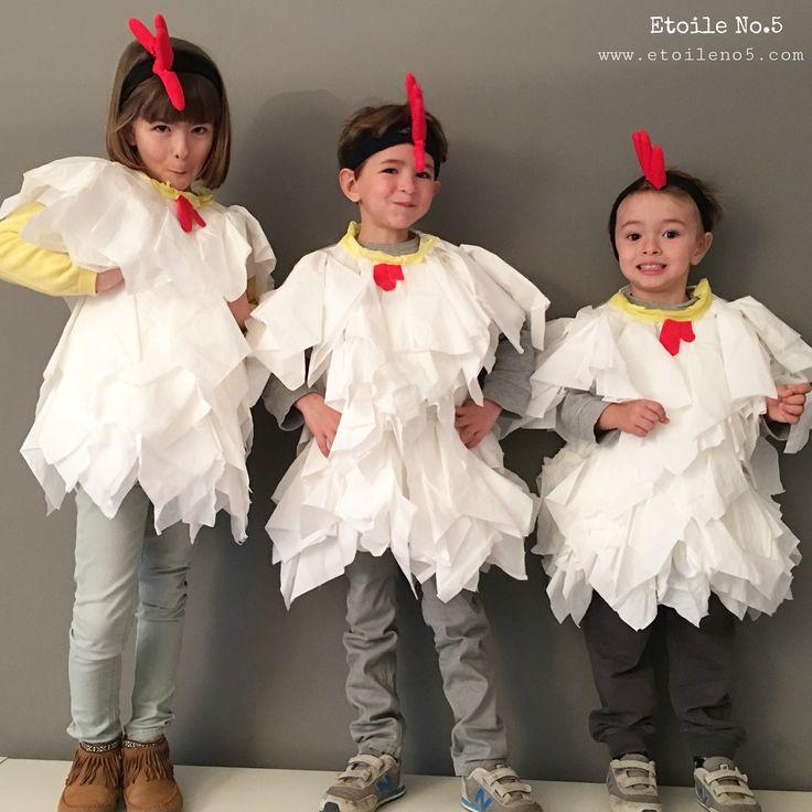 Disfraz de gallina disfraz casero, diy. Hecho en pocos minutos. Etoile No.5 www.etoileno5.com