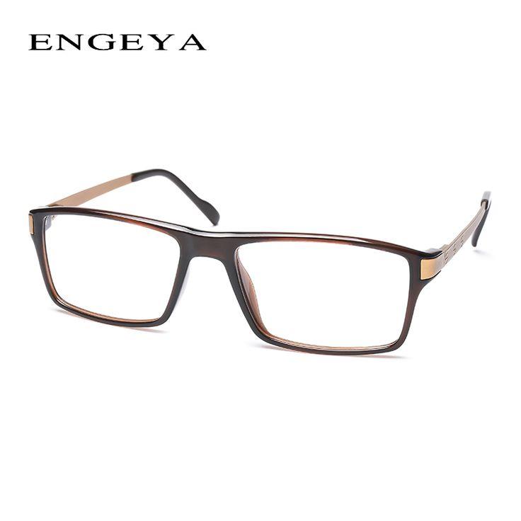 c4e442679bda 2016 ENGEYA TR90 Clear Lens Fashion Glasses Frame Men Prescription Eyewear  Optical Myopia Eyeglasses Frame High
