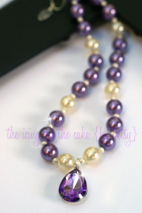 Sofia the First Inspired Faux Pearl Bead Necklace - Princess Sophia Inspired - Photo Prop - Disney Vacation - Costume - Birthday - Halloween on Etsy, $16.95