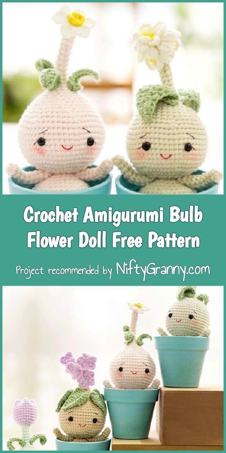 Crochet Amigurumi Bulb Flower Doll [Free Pattern] #amigurumi #amigurumipattern #…