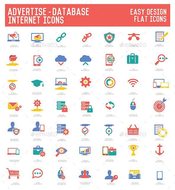 Advertise & Database Icons