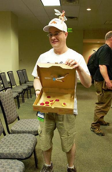 Pizza 'Spress delivery guy from Dresden Files - great cosplay idea