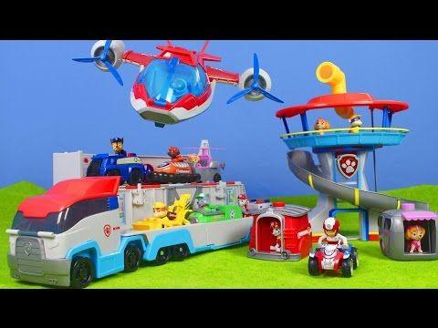 PAW PATROL deutsch: Lookout Playset, PAW & Air PATROLLER, Feuerwehrmann Marshall | PAW PATROL PUPS - YouTube