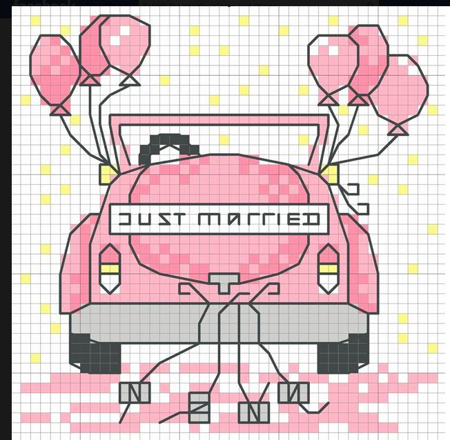 Free Chart Friday is here! Are you going to any special weddings this summer? This cute 'Just Married' mini chart is perfect for personalising your cards and gifts with Download your FREE chart from here: www.dmccreative.co.uk