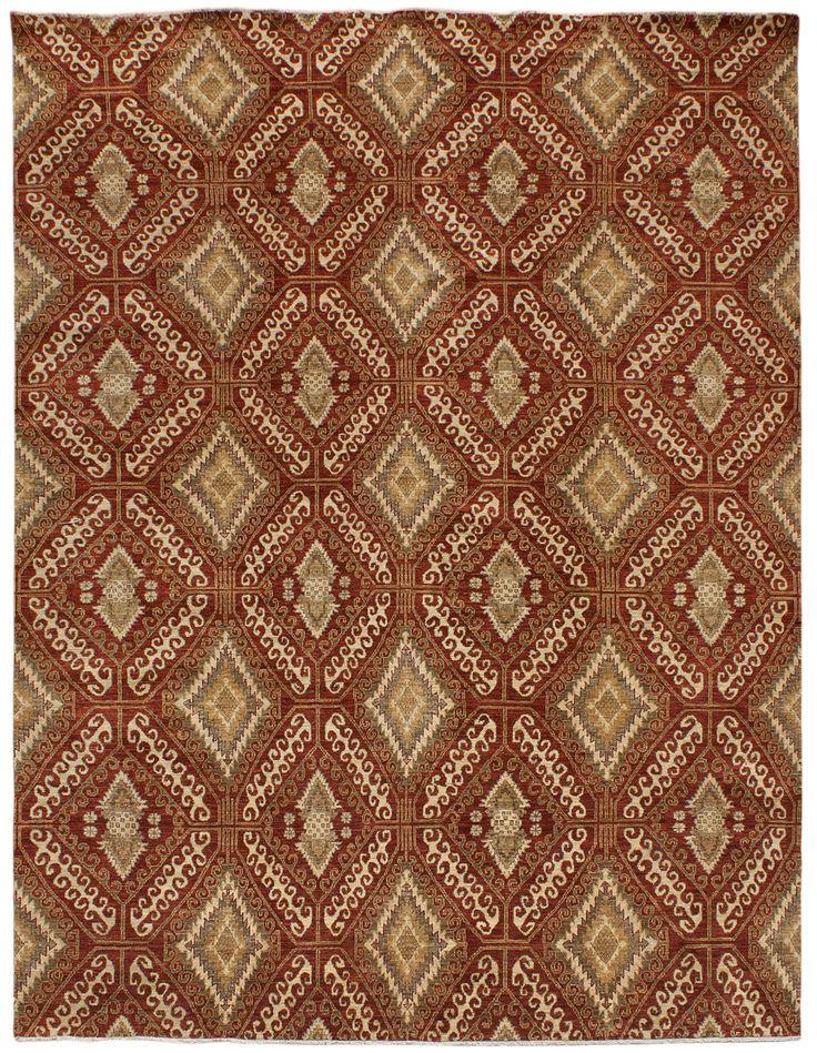Mardan Agra Kuba Area Rug Handknotted In Stan Made Of Premium Wool Fiber