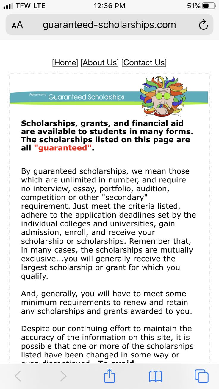 Guaranteed Scholarships Scholarships, Presidential