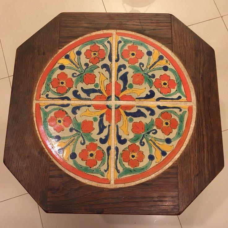Rare Vintage California D&M Tile Top Table Malibu Catalina Era | eBay
