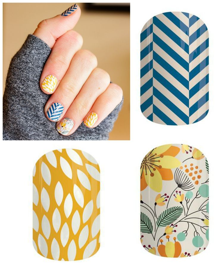 Slatted Herringbone, Sunny Lotus, and Sweet Whimsy Jamberry nail wraps!