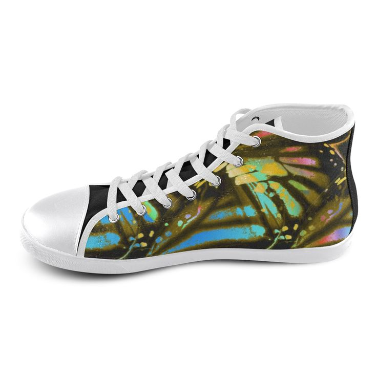 Tiger Wings High Top Canvas Kid's Shoes (Model 013).