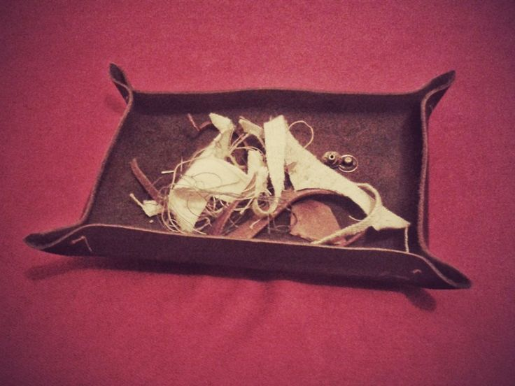 leather tray for sewing scraps...